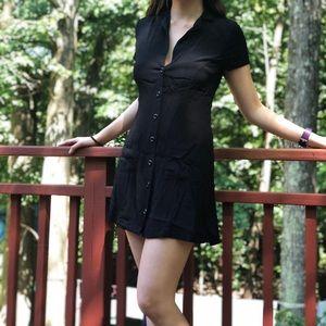 Collared black dress